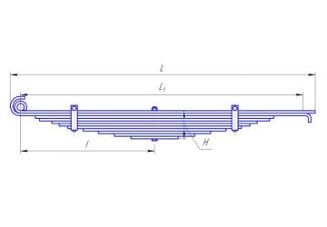 Передняя рессора КАМАЗ-6520