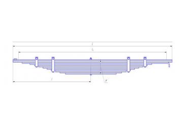 Передняя рессора МАЗ 5336